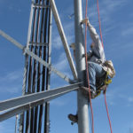 Tower climbing fall protection & rescue
